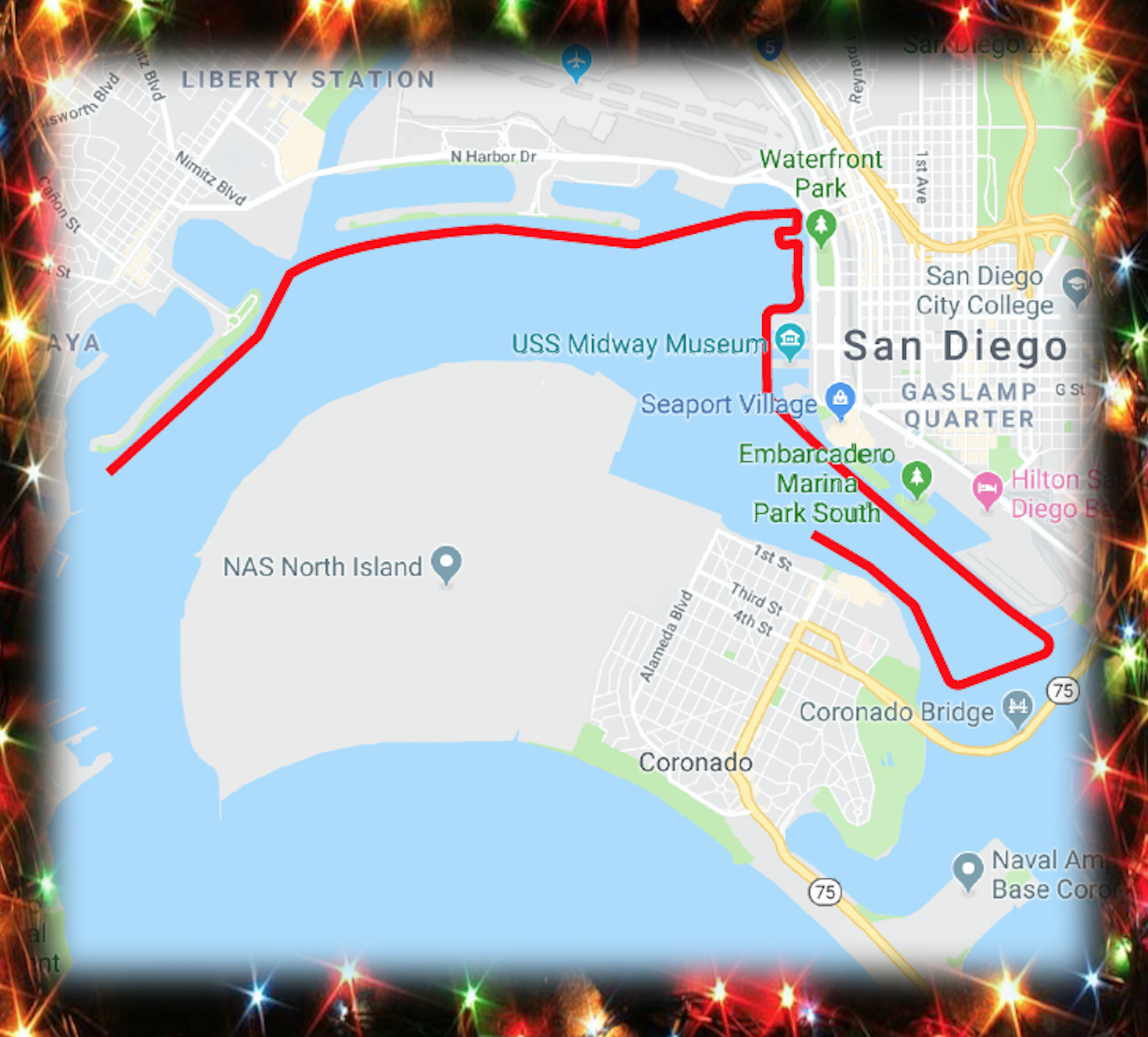 Parade of Lights 2018 route